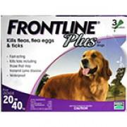 Frontline Plus  殺蝨滴頸藥水(3支裝) - (8週齡以上及20 - 40kg狗隻適用)