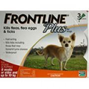 Frontline Plus  殺蝨滴頸藥水(3支裝) - (8週齡以上及10kg以下狗隻適用)