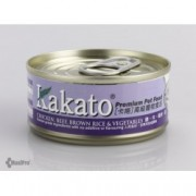 Kakato 雞 + 牛 + 糙米 + 菜 70g